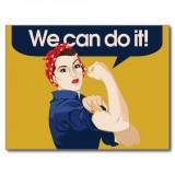 Postkarte \'We can do it!\'